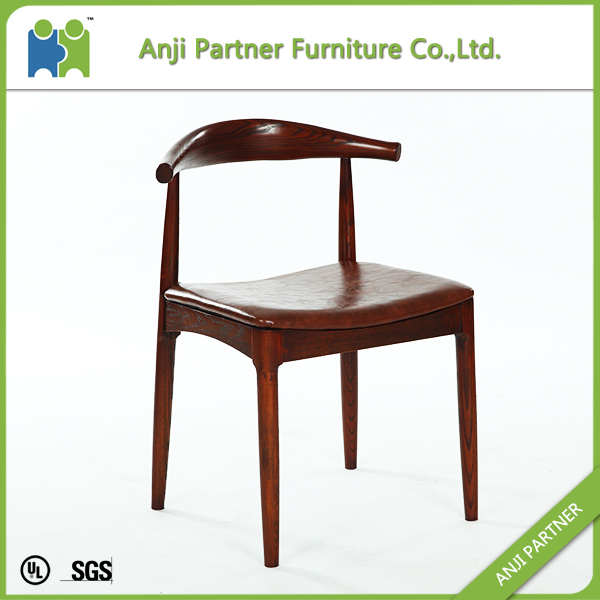 Retardant foam and Nordic White Wax Wood Dining Chair(Anastasia)