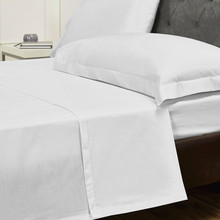 100% Cotton Flat Sheet-Breathable, Comfortable, Durable Hotel Bed Sheet Set