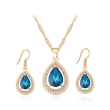 Artificial Dubai Gold Jewellery, Fashion Gold Plated Wedding Jewelry Necklace Earrings Set