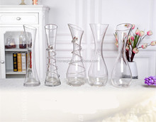 Nice Wholesale different types clear hand made blown glass vase