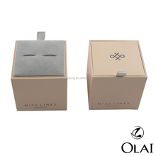 Elegant Square paper cufflink box,high-end cardboard cufflink gift packing box wholesale