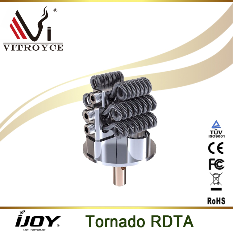 Authentic IJOY Tornado RDTA tank newly added powerful Tornado 300W capable e cigarette hot selling in stock