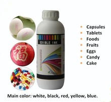Food grade edible printing ink for cake candy chcolates capsule tablets