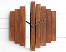 Geometric Wooden Wall Decor Hanging Clock