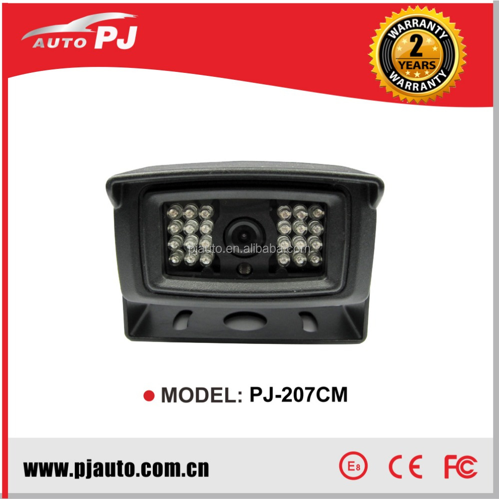 Truck Super Night Vision Rear View Camera 24 IR Light , 1/4'' CCD Trailer / Heavy Duty Back View / Reverse Camera (PJ-207CM-12V)