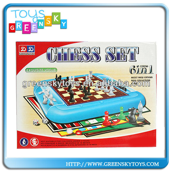 New 6 in 1 Chess game set,Educational chess game toy for kids,intelligent game toy for children