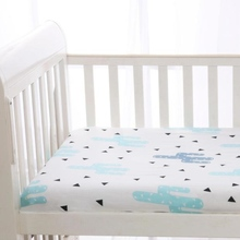 soft baby disposable fitted bed sheet of crib baby bedding with elastic tape