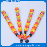 Custom figured woven textile promotion gifts wristbands for kids