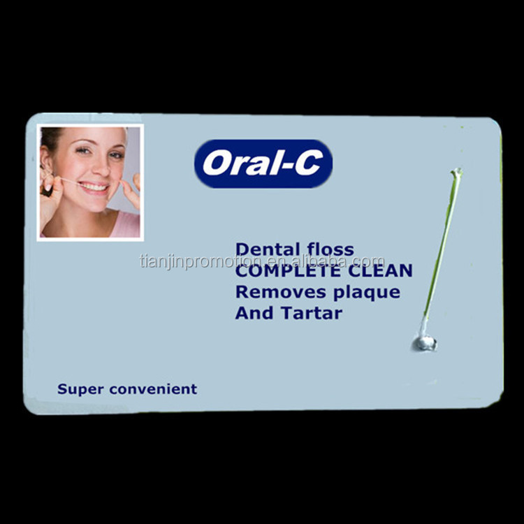 portable colored card dental floss