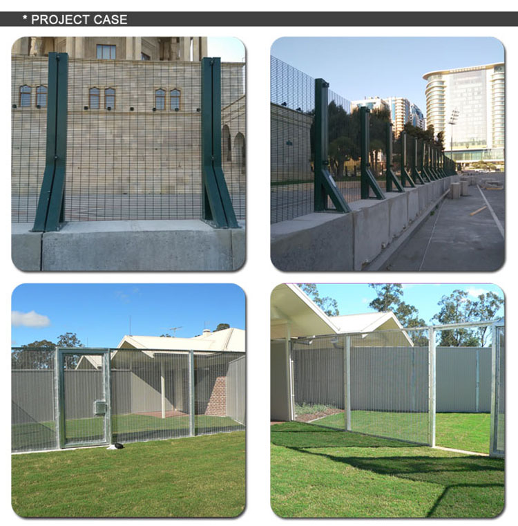 Made in Guangzhou Professional Factory Barbed wire at top Anti-Climb Fence / 358 High security Fence