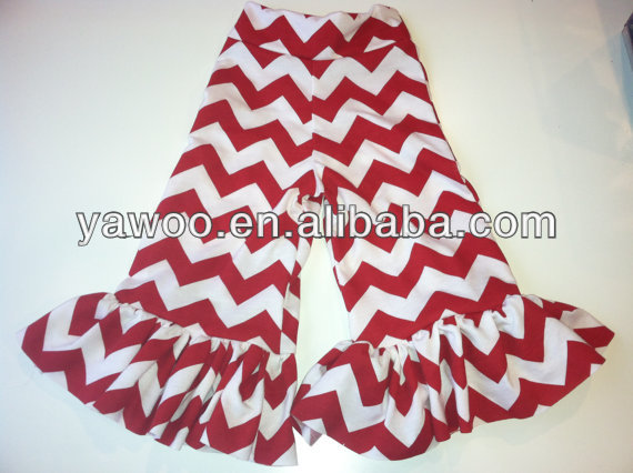 2014Hot Sale!Baby Girls Ruffle Pants Child Chevron Stripes Pants For Little Girls Shorts Tight Leggings Kids Casual Pants