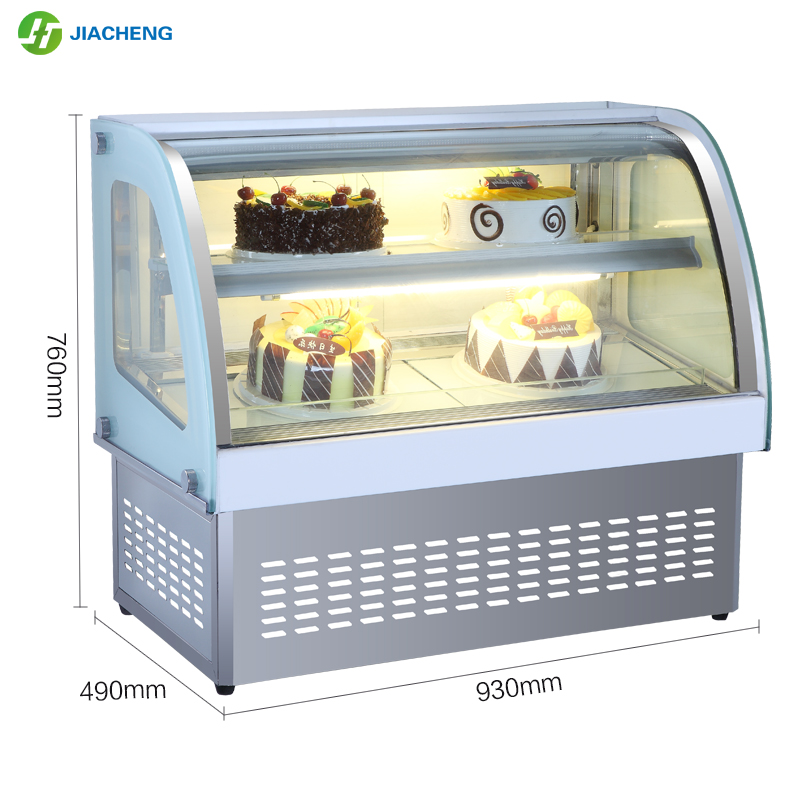 Jiacheng stainless steel cake bread dessert display cabinet refrigerator cooler cake display chiller