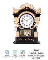 Artificial ancient retro flip down clock table clock (F007)