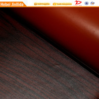 dark brown furniture PVC paper leather wood PVC leather wood grain paper