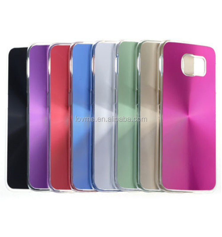 CD Style Hard Aluminum Plated Back Case Cover For Samsung Galaxy S6