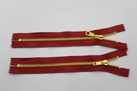 wenzhou zipper manufacturer promotion shining gold metal zipper for wholesale,C/E, A/L