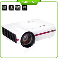 Brilens EL1280 Susan Shi 20000 hours LED Proyector for Education Home theater cinema 1280 X 768 Pixel Real 720p LCD Projector