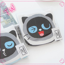 multifunction canvas wallet ,funny cat shape canvas coin purse/mini coin pouch free sample
