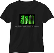 music led light t shirt / equalizer led shirts / el t-shirt for football game