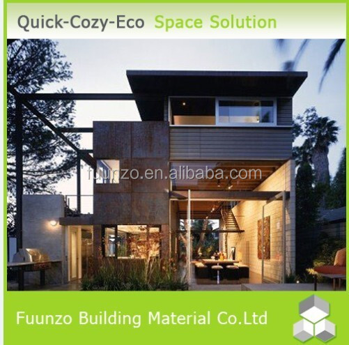 Good insulated Wooden Timber Rotproof Steel Frame Prefab Home