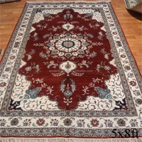 Classic design bedroom decoration hand knotted silk rug