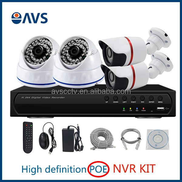 POE IP Camera and NVR Wireless CCTV Camera System