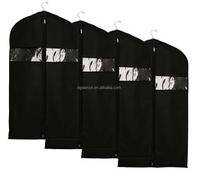 hight quality set of 4 Black nonwoven suit bags/fabric suit cover/nylon garment bag