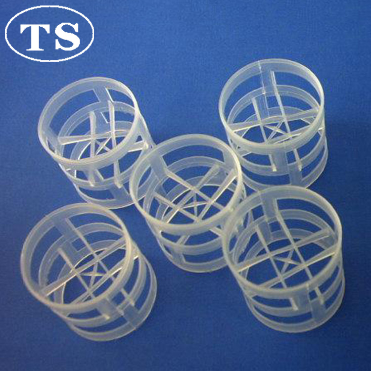 random packing filling Plastic Pall Rings with PE PP material for Packing Dumped Tower