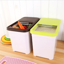 thicken plastic rice storage box with lid dry food dispenser rice dispenser slide the cover 10kgs