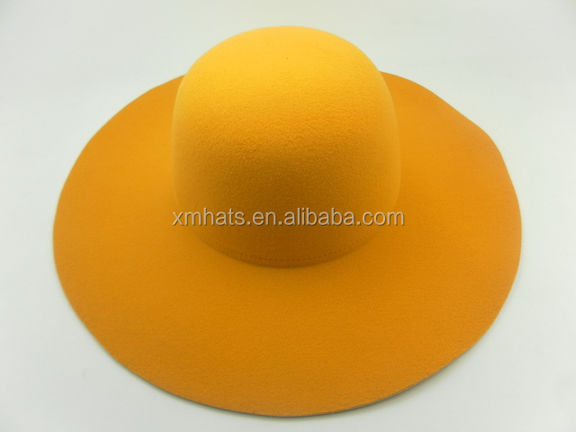 Bottom price high quality ladies felt hillbilly hat
