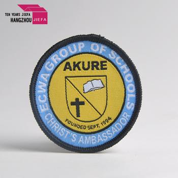 Fashion design embroidery maple Leaf badges for uniforms label