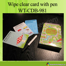 WT-CDB-982 high quality educational card games for kids