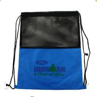 Eco 420D Polyester Mesh Drawstring Bag With Your Designs