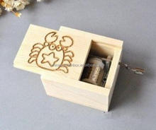 hot selling best price wood hand crank music box