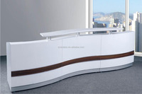 SGS Approval factory OEM front reception desk equipment,solid surface counter top