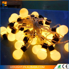 RGYB LED big ball string lights covered 45mm PC ball for wedding or holiday decoration