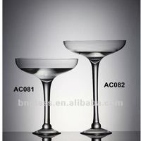 Clear Glass Martini Vase Home Decoration