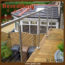 Exterior modern wire mesh grille design balcony stainless steel railing