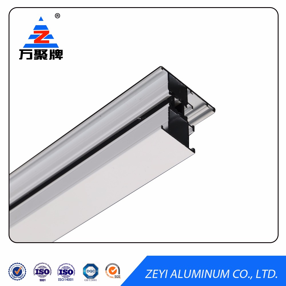 Polished aluminum window extrusion profile for window and door