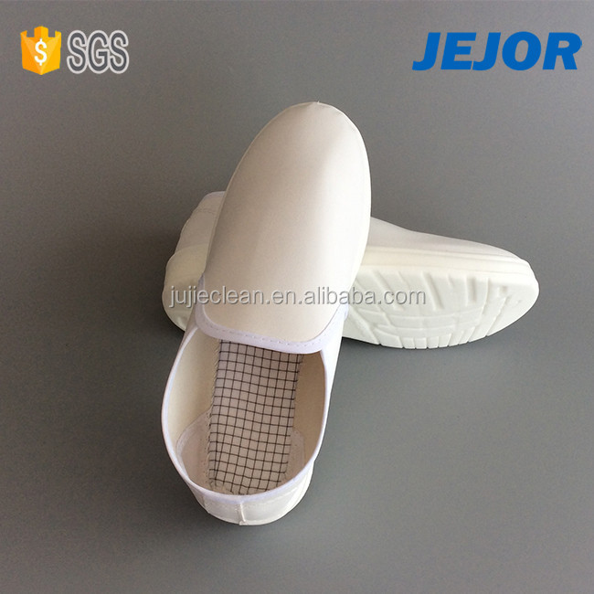 Electronics Industry Use PU Sole White Leather Esd Shoes