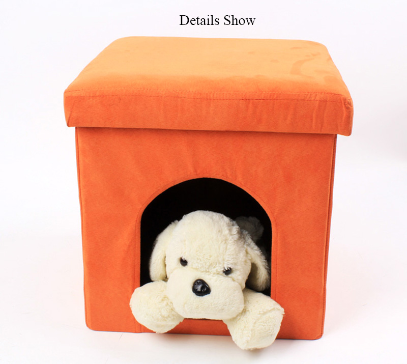 Wholesale Comfortable Folding Storage Stool Luxury Pet House Ottoman