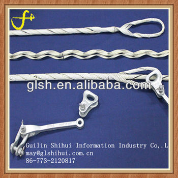 Preformed ground wire strain clamp