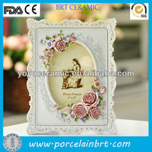 rectangle white flower resin high end picture frame