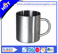 High quality double wall stainless steel mug