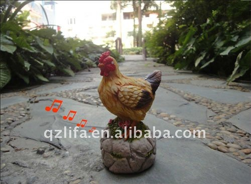 new design sensor hen used for garden decoration