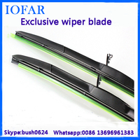Universal Type framesless wiper for japan car accessories u-hook wiper blade