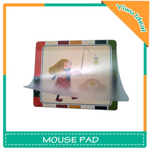 Lovely Print Insertable Photo Frame Customized Mouse Mat