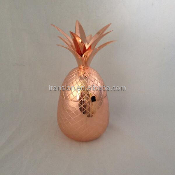 Solid Copper Pineapple Tumbler / Mug with Copper Straw- Available in 3 Sizes (12oz,18oz,24oz)