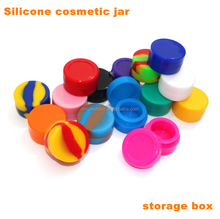 Food Grade High Quality Customized storage box silicone cosmetic jar cosmetic container