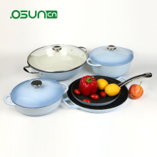 5pcs happy lady s/s casserole set